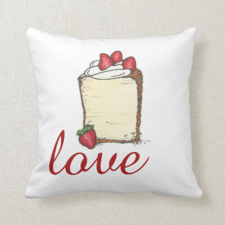LOVE Angel Food Cake Strawberry Valentine Pillow