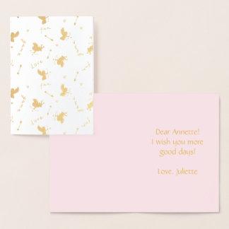 Love angels Cupid beautiful pattern Foil Card