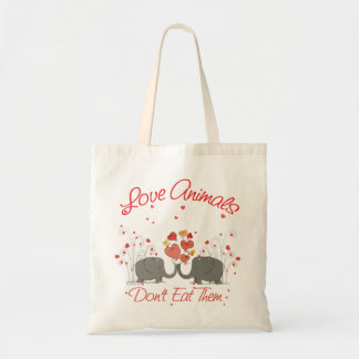 Love Animals Dont Eat Them Budget Tote Bag