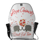 Love Animals Dont Eat Them Courier Bags
