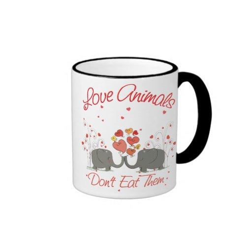 Love Animals Dont Eat Them Mug