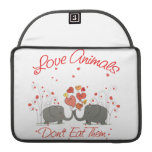 Love Animals Dont Eat Them Sleeves For MacBook Pro