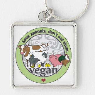Love Animals Dont Eat Them Vegan Key Ring