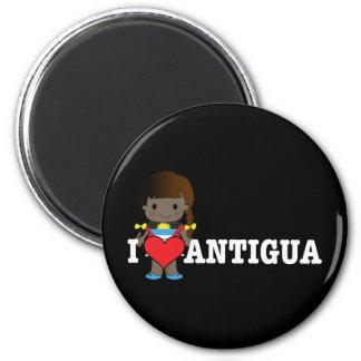 Love Antigua 6 Cm Round Magnet