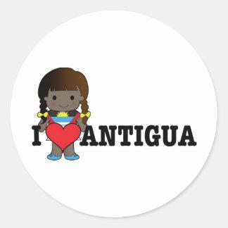 Love Antigua Classic Round Sticker