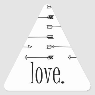 Love arrow print pattern arrows hipster quote triangle sticker