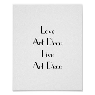 Love Art Deco Typography Poster