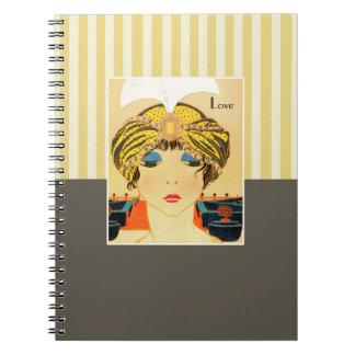 Love. Art Deco Valentine's Day Gift Notebooks