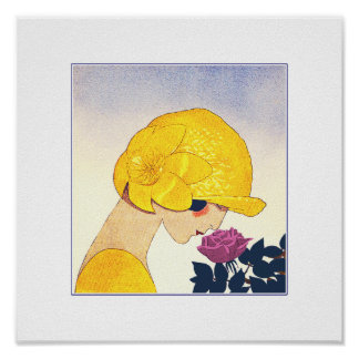 Love. Art Deco Valentine's Day Gift Prints Poster