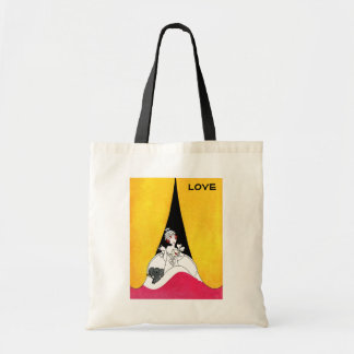 Love. Art Deco Valentine's Day Gift Tote Bags