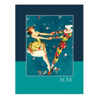 Love. Art Deco Valentine's Day Postcards