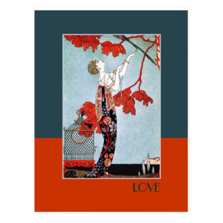 Love. Art Deco Valentine's Day Postcards