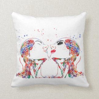 Love art, face anatomy, brain anatomy, medical art cushion