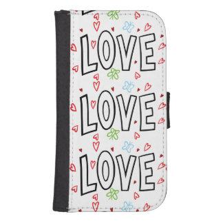 Love Art With Hearts Phone Wallet Case