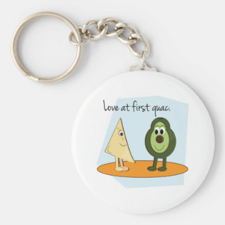 Love At First Guac. Key Ring