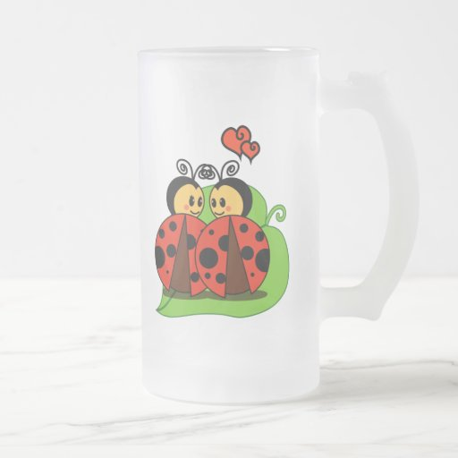 Love at first sight frosted glass mug
