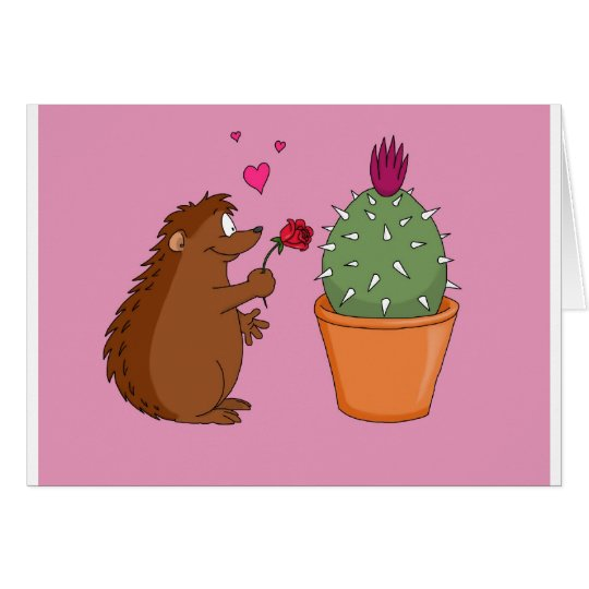 'Love at First Spike' Greetings card