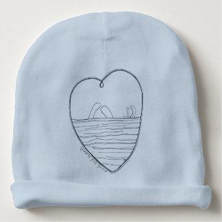 Love at first swim baby beanie