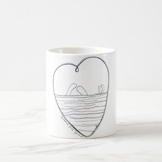 Love at first swim coffee mug