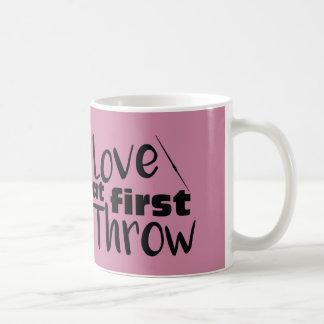 Love at First Throw, Javelin Throw Coffee Mug Cup