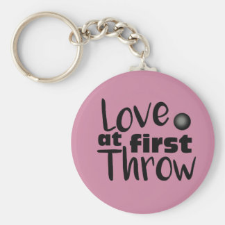Love at First Throw, Shot Put Throw Keychain