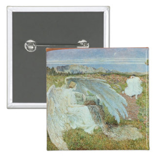 Love at the Fountain of Life, 1896 15 Cm Square Badge