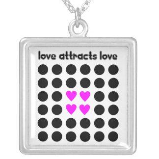 Love attracts Love Square Pendant Necklace