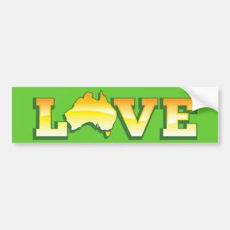 LOVE Australia Aussie Love Heart Map AWESOME! Bumper Sticker