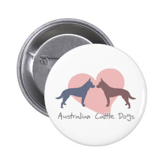 Love Australian Cattle Dogs 6 Cm Round Badge