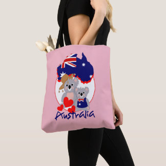 Love Australian koala Bears Super Cute Graphic Tote Bag