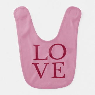 LOVE | Baby Bib Burp Clothes | Newborn and Infants