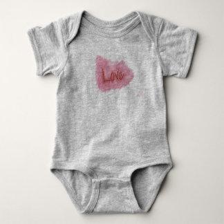 Love baby single garment with blotch baby bodysuit
