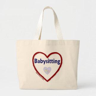 Love Babysitting Jumbo Tote Bag