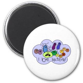 Love Bacteria 6 Cm Round Magnet