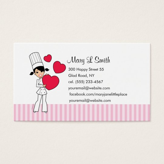 Love Baking Personal Calling Card - Customised