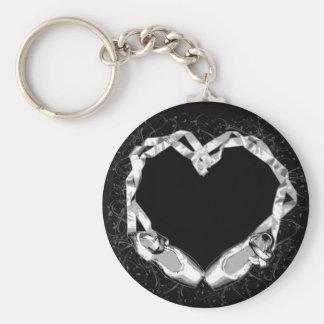 Love Ballet Basic Round Button Key Ring