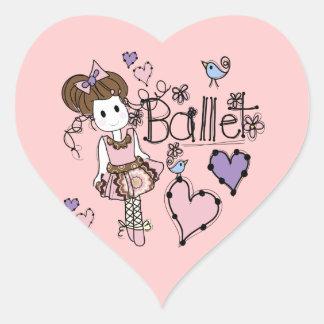 Love Ballet Heart Sticker