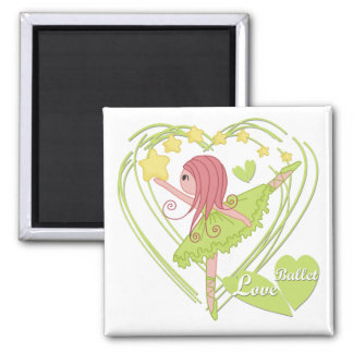 Love Ballet Tshirts and Gifts Square Magnet