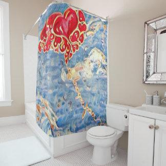 Love Balloons Design 1- shower curtain