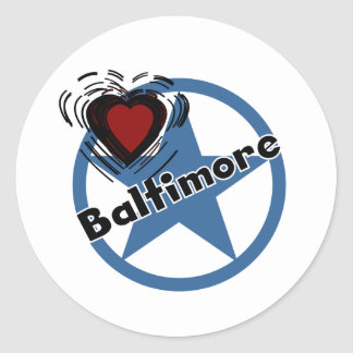Love Baltimore Classic Round Sticker