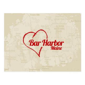 Love Bar Harbor, ME Postcard