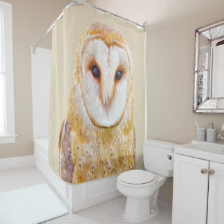 Love Barn Owl Bird Animal Nature Wildlife Shower Curtain