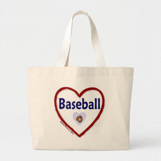 Love Baseball Jumbo Tote Bag