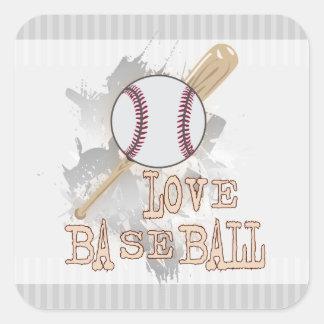 'LOVE BASEBALL' sport  Sticker