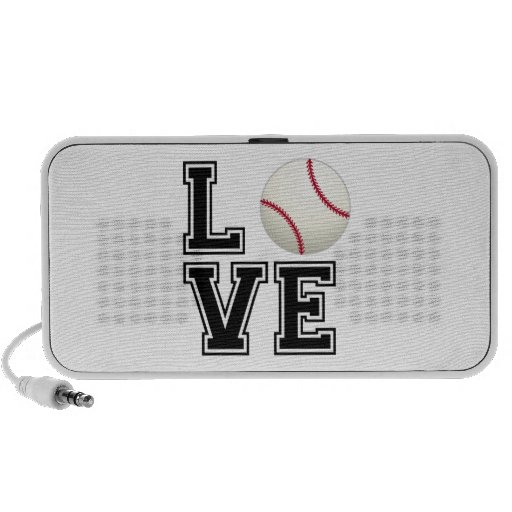 Love Baseball, word art, text design for t-shirt Notebook Speaker
