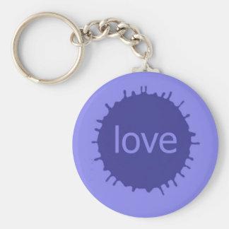 loVe Basic Round Button Key Ring