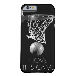 Love Basketball Game Black & White Barely There iPhone 6 Case
