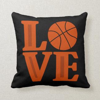 Love Basketball sports fun throw pillow