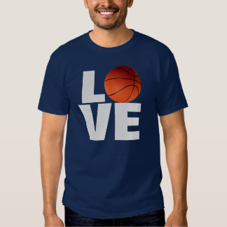 Love Basketball T-Shirt - Navy Blue Color
