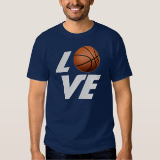 Love Basketball T-Shirt - Navy Blue Color Tees